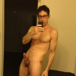 Horny Nude Muscular Man With Glasses