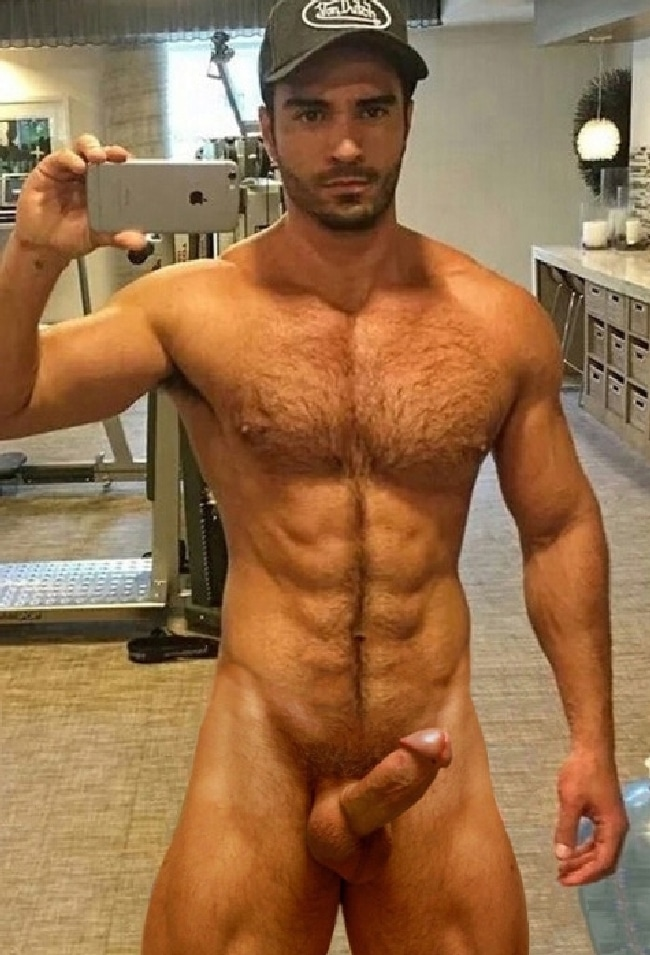 Hairy Nude Muscle Man