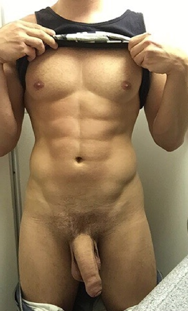Muscle Man With Perfect Cock And Body - Nude Gay Man