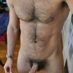 Nude Hairy Man With A Hard Hairy Cock