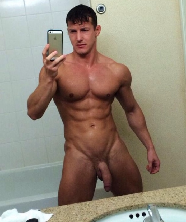 Hot Muscle Guy Big Dick Fingerfucks Himself With Legs Spread. muscular big dick Muscle and Huge Dick.