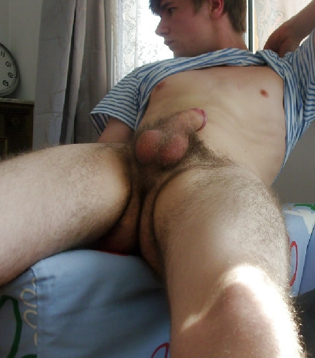 Young hairy hunk men ready help
